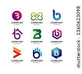 letter b logo template...   Shutterstock .eps vector #1360623098