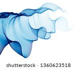 wave of flowing particles... | Shutterstock .eps vector #1360623518