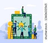 money saving  financial... | Shutterstock .eps vector #1360633565