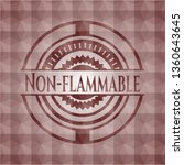 non flammable red emblem or... | Shutterstock .eps vector #1360643645