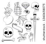 tattoo studio old school...   Shutterstock .eps vector #1360658075