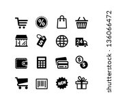 web icon set. shopping pictogram | Shutterstock .eps vector #136066472