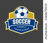 soccer emblem logo   Shutterstock .eps vector #1360670015