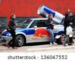 milan  italy   april 12  girls... | Shutterstock . vector #136067552