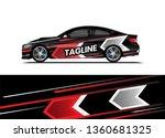 car decal wrap design template... | Shutterstock .eps vector #1360681325