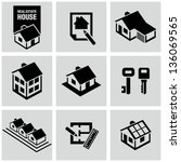Stock vector real estate icons 136069565