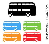 vector set of color london bus...