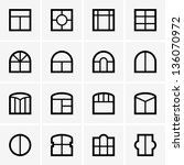 window icons | Shutterstock .eps vector #136070972