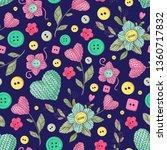 seamless pattern handmade... | Shutterstock .eps vector #1360717832
