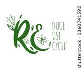 zero waste conceptual  rules.... | Shutterstock .eps vector #1360741592