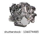 Powerful Car Engine Isolated On ...