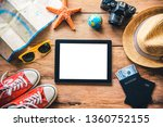 travel accessories costumes.... | Shutterstock . vector #1360752155