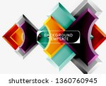 geometric shapes abstract... | Shutterstock .eps vector #1360760945