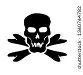 Vector Of Skulls And Bones On ...