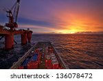 north sea  offshore | Shutterstock . vector #136078472