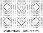 seamless black and white... | Shutterstock . vector #1360795298