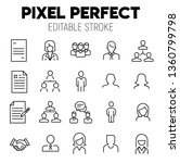hr related vector icon set.... | Shutterstock .eps vector #1360799798