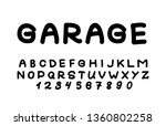 trendy font. minimalistic style ... | Shutterstock .eps vector #1360802258