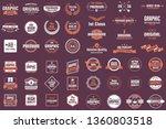 vintage retro vector logo for... | Shutterstock .eps vector #1360803518