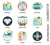 business icons set for business ... | Shutterstock .eps vector #1360803725