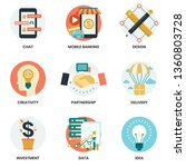 business icons set for business ... | Shutterstock .eps vector #1360803728