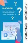 educational institution flyer ... | Shutterstock .eps vector #1360820312