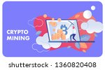 crypto mining business flat... | Shutterstock .eps vector #1360820408