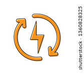 orange recharging icon isolated ... | Shutterstock .eps vector #1360828325