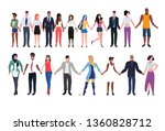 mix race people in community... | Shutterstock .eps vector #1360828712