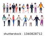 mix race people in community... | Shutterstock .eps vector #1360828712