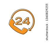 orange telephone 24 hours... | Shutterstock .eps vector #1360829255