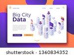 smart city landing. business... | Shutterstock . vector #1360834352