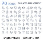 set of line icons of business... | Shutterstock . vector #1360842485