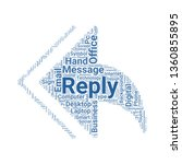 reply all word cloud. tag cloud ...   Shutterstock .eps vector #1360855895
