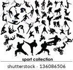 sport collection vector | Shutterstock . vector #136086506