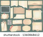 old scrapbook paper. crumpled... | Shutterstock .eps vector #1360868612