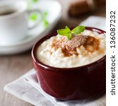 creamy rice pudding with... | Shutterstock . vector #136087232
