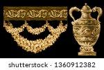 vintage floral illustration... | Shutterstock . vector #1360912382