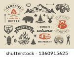 summer camping and outdoor... | Shutterstock .eps vector #1360915625