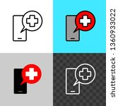 call the doctor symbol.... | Shutterstock .eps vector #1360933022