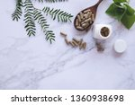 herbal medicine in capsules on... | Shutterstock . vector #1360938698