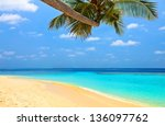 beach for relax under the shade ... | Shutterstock . vector #136097762