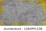 grey and yellow background...   Shutterstock . vector #1360991138