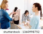 i like it. attractive girl... | Shutterstock . vector #1360998752