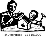 black and white vector... | Shutterstock .eps vector #136101002