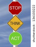 modified colorful road signs...   Shutterstock . vector #136103222
