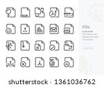 simple set of file and document ... | Shutterstock .eps vector #1361036762