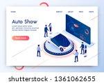 auto show horizontal banner....   Shutterstock .eps vector #1361062655