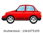 red car. 3d illustration... | Shutterstock . vector #1361075105