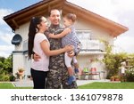 close up of a happy soldier... | Shutterstock . vector #1361079878